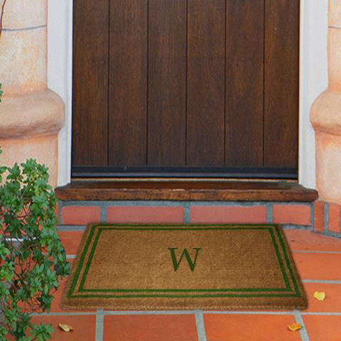 COCOMATS DOUBLE BORDER GREEN - Monogram Mat