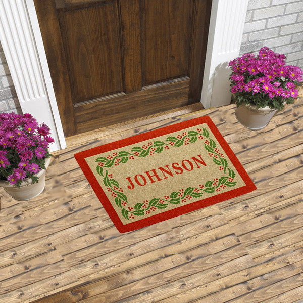 PERSONALIZED DOORMAT - HOLIDAY HOLLY