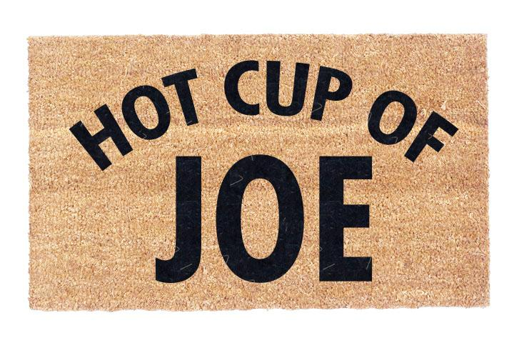 Hot Cup Of Joe Coco Doormat
