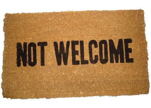 funny doormat coir - not welcome