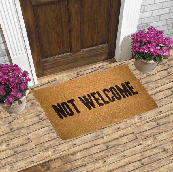 Not Welcome Coir Doormats Coco Doormats Modern