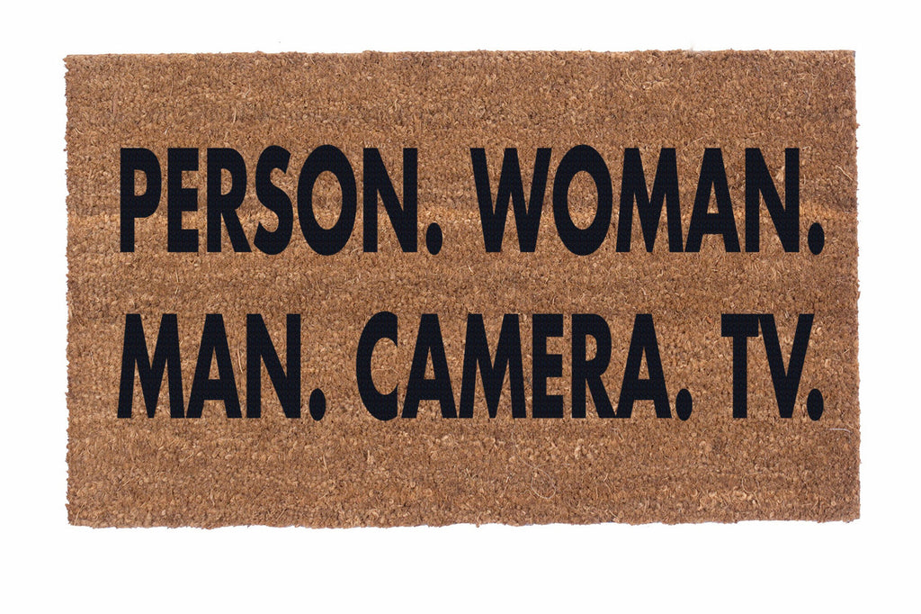 PERSON. WOMAN. MAN. CAMERA. TV.