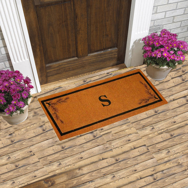 PERSONALIZED MATS - ACORN BORDER - MONOGRAM