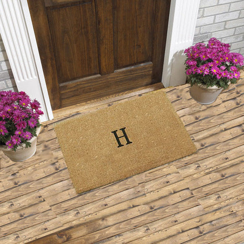 PERSONALIZED DOORMAT - PLAIN COCO - MONOGRAMMED