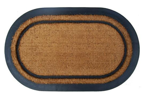 York Oval Design Rubber Coir Doormat