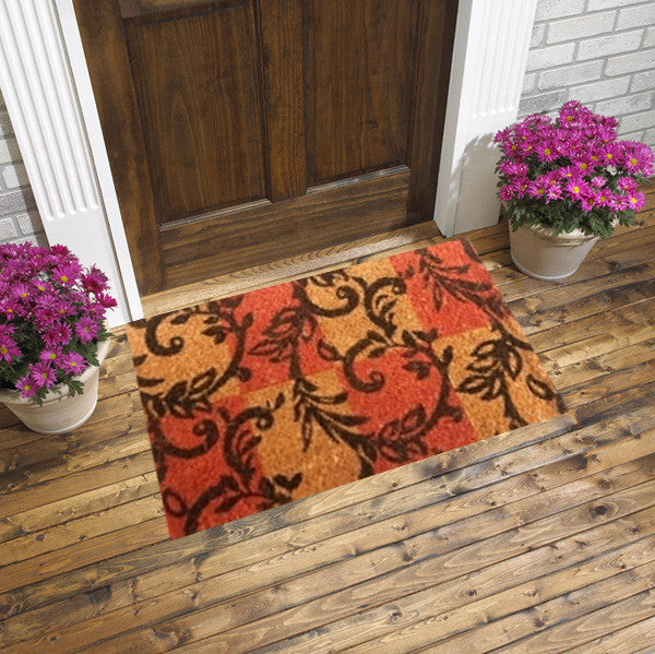 Coco doormats - branching twirls