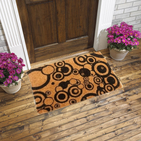 Coir door mats - bubbles