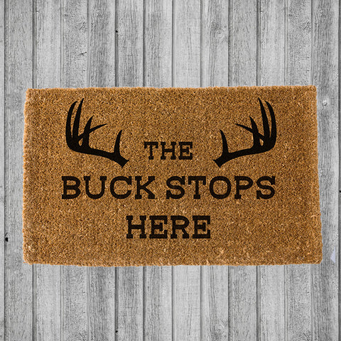 THE BUCK STOPS HERE DOORMAT