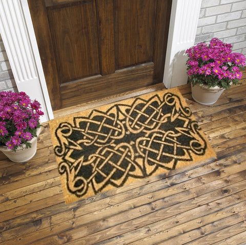 "COCO DOORMAT - CELTIC KNOTS  18"" X 30"""