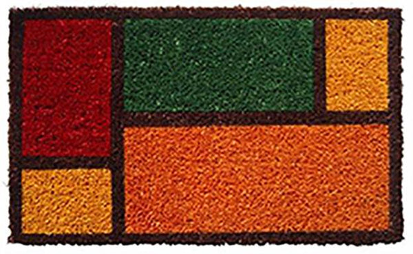 **DISCONTINUED**COCO DOORMAT - COLOR BLOCKS