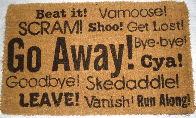 Go Away Synonyms- Coco Doormat