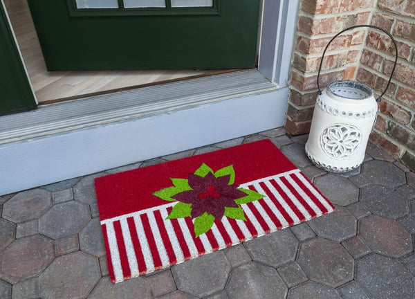 Holiday Greetings Vinyl Coir Doormat