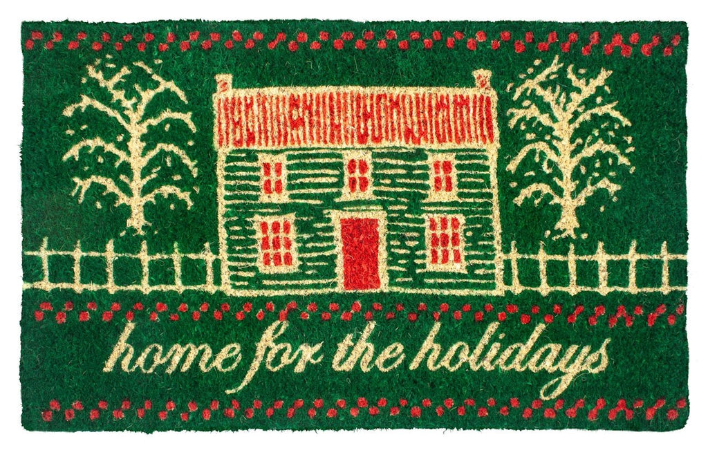 Home for the Holidays Handwoven Coco Doormat