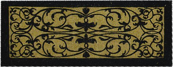 Iron Grate Rectangle Extra Thick (36 x 72) Rubber Coir Doormat