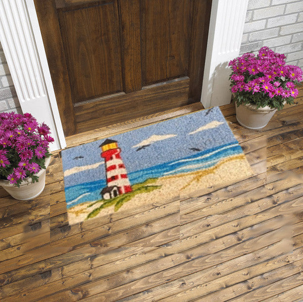 coir mat - lighthouse