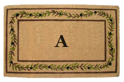 PERSONALIZED MAT - OLIVE BRANCH BORDER - MONOGRAM