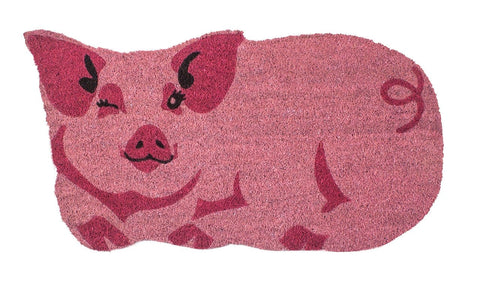 Year of the Pig Vinyl Coir Doormat