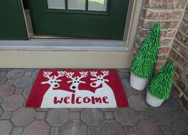 Reindeer Welcome Vinyl Coir Doormat