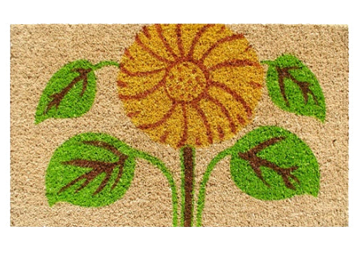 sunflower coco doormat