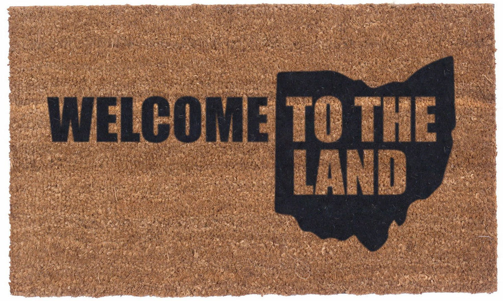 Welcome to the Land – Vinyl backed Coco Mats
