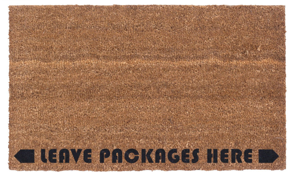 Leave Packages Here - Instructional Doormat