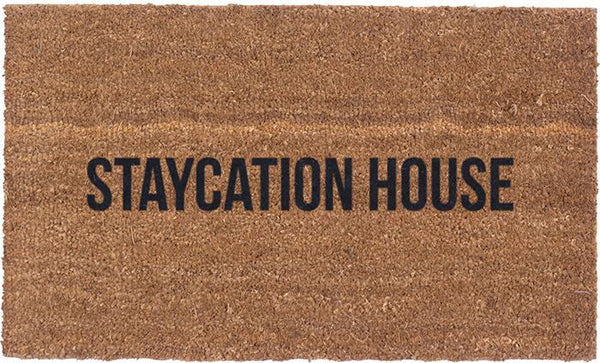 Vinyl Back - Staycation House - Coir Doormat