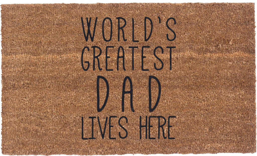 World's Greatest Dad - Vinyl Backed Coco Mats
