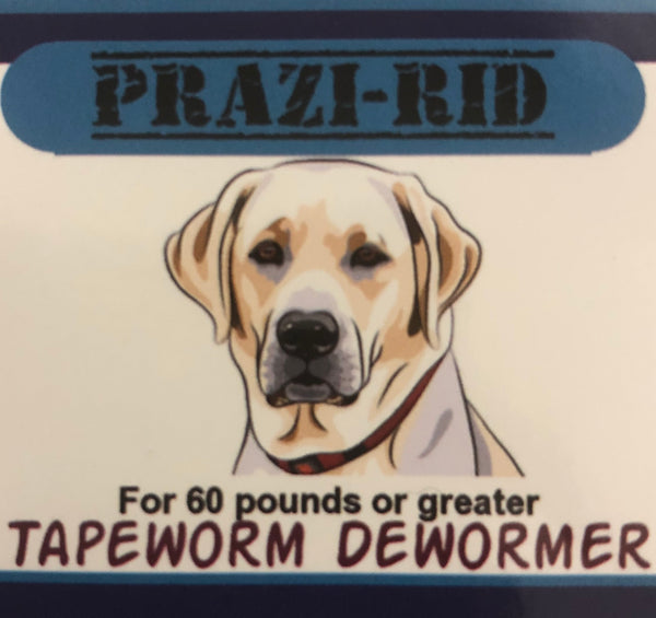 Tapeworm Dewormer for 60 pounds or greater - 170mg Praziquantel