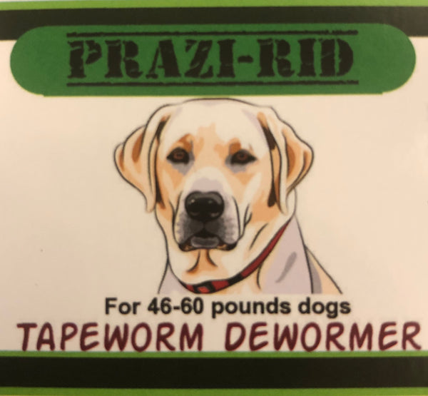 Tapeworm Dewormer for 46-60 pounds - 136mg Praziquantel