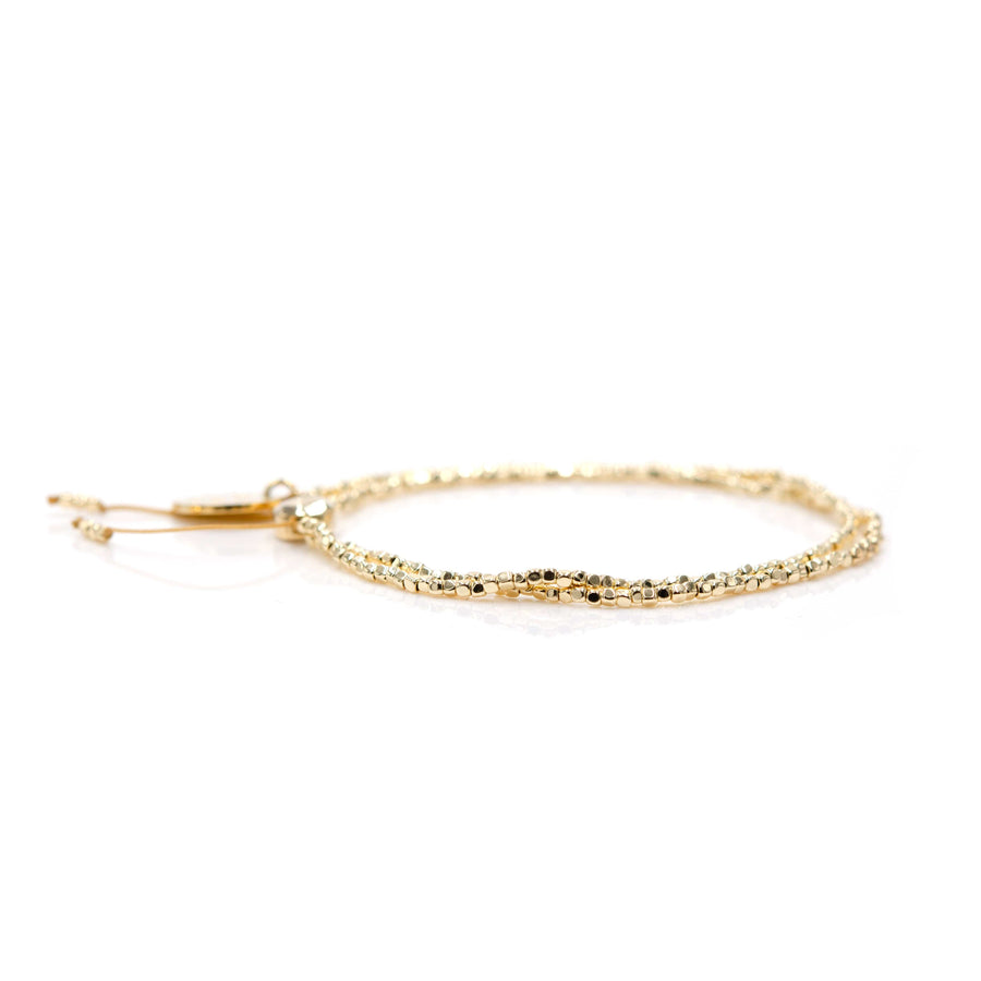 "Gold ""Tiny"" Bead Bangin' Bracelet"