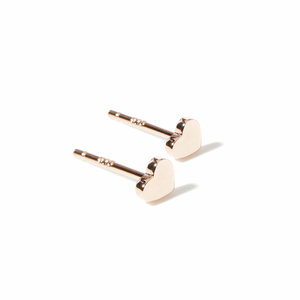 """Little Hearts"" Rose Gold Earrings"