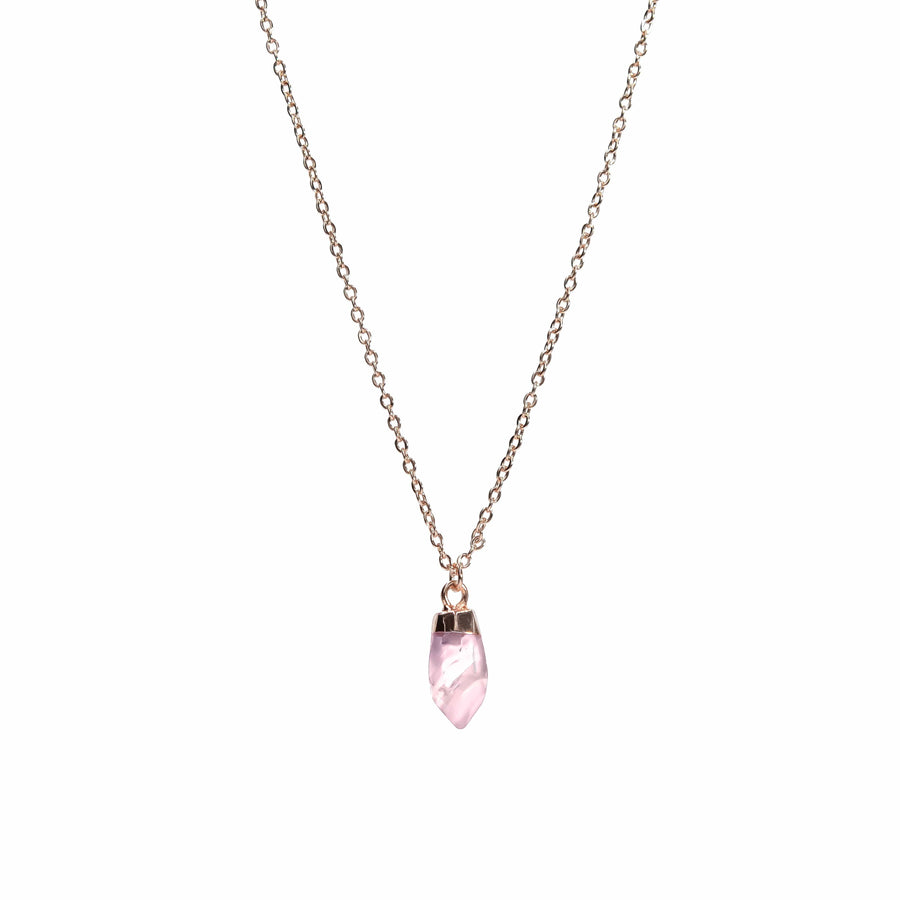 """Sweet Drop"" Necklace in Rose Quartz"
