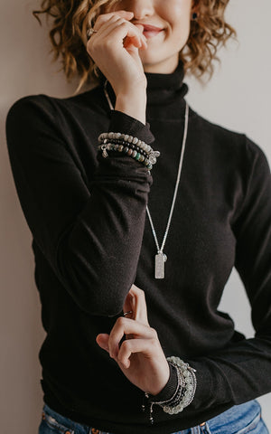 """Mileon"" Necklace in Silver"