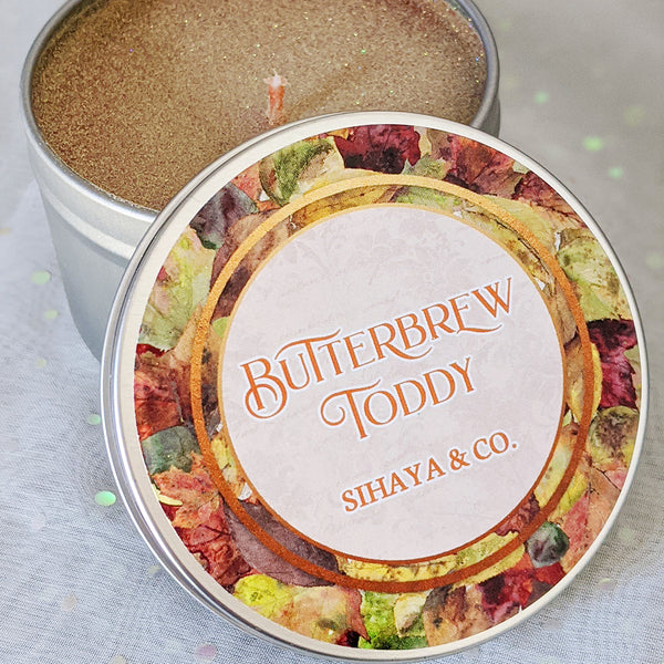 Butterbrew Toddy 8oz candle by Sihaya & Co