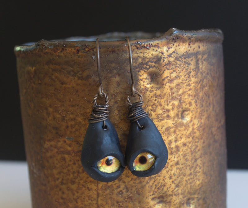 Monster Eye earrings from Nova Leigh Walker