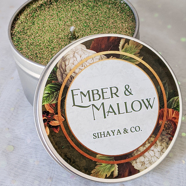 Ember & Mallow 8oz  candle by Sihaya & Co