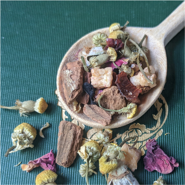 Fearless: apple spice chamomile tea from Poesie Tea and Perfumery
