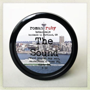 The Sound Candle from Roman Ruby Botanicals