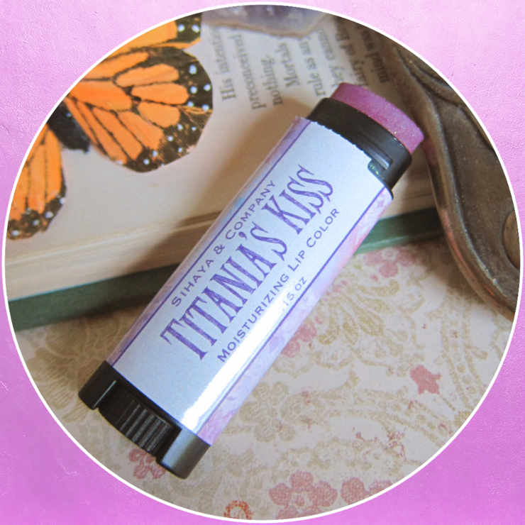 Moisturizing lipcolor in Titania's Kiss by Sihaya & Co