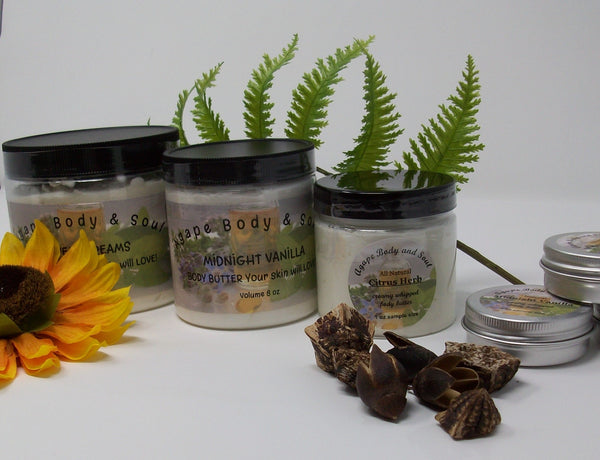 Sample set of Three Whipped Body Butters from Agape Body and Soul