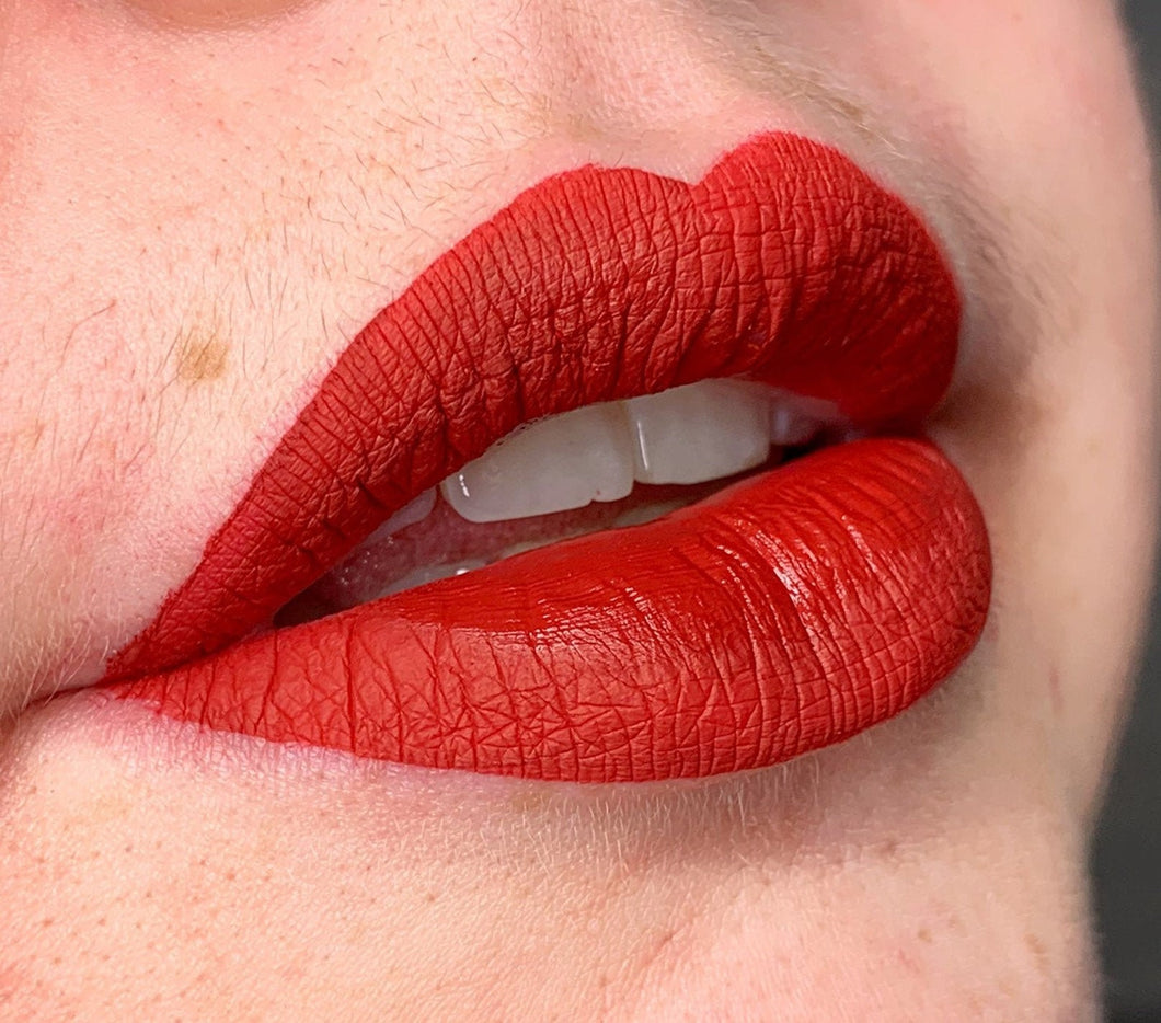 Candied Apple Red Liquid Lipstick by Cirque Cadia Cosmetics