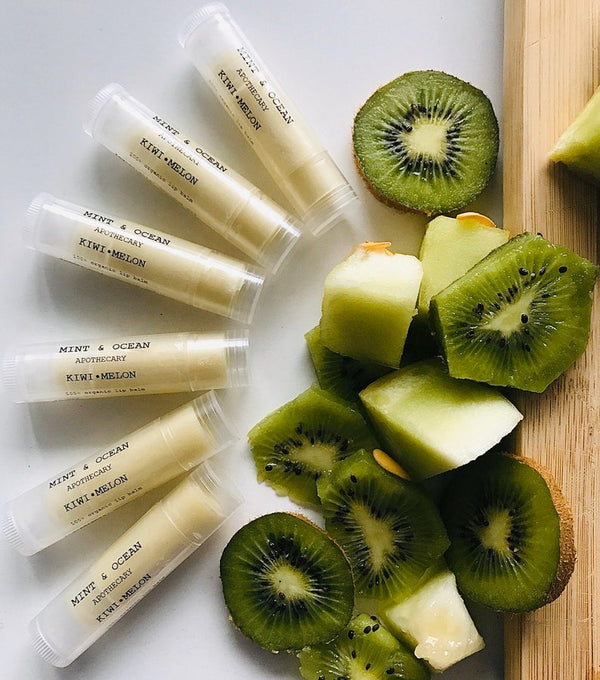 Kiwi Melon Organic lip balm by Mint and Ocean