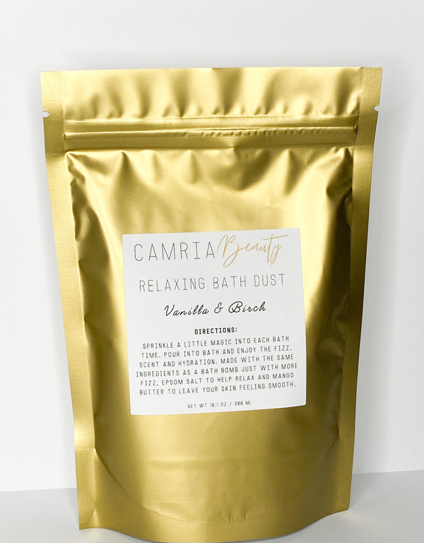 Relaxing bath dusts by Camria Beauty