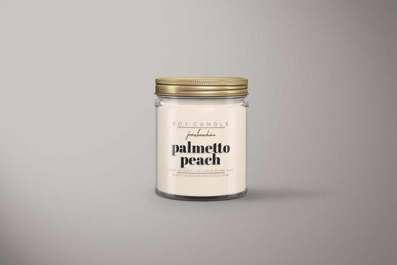 Palmetto Peach 25-40 hour soy candle by Freres Branchiaux