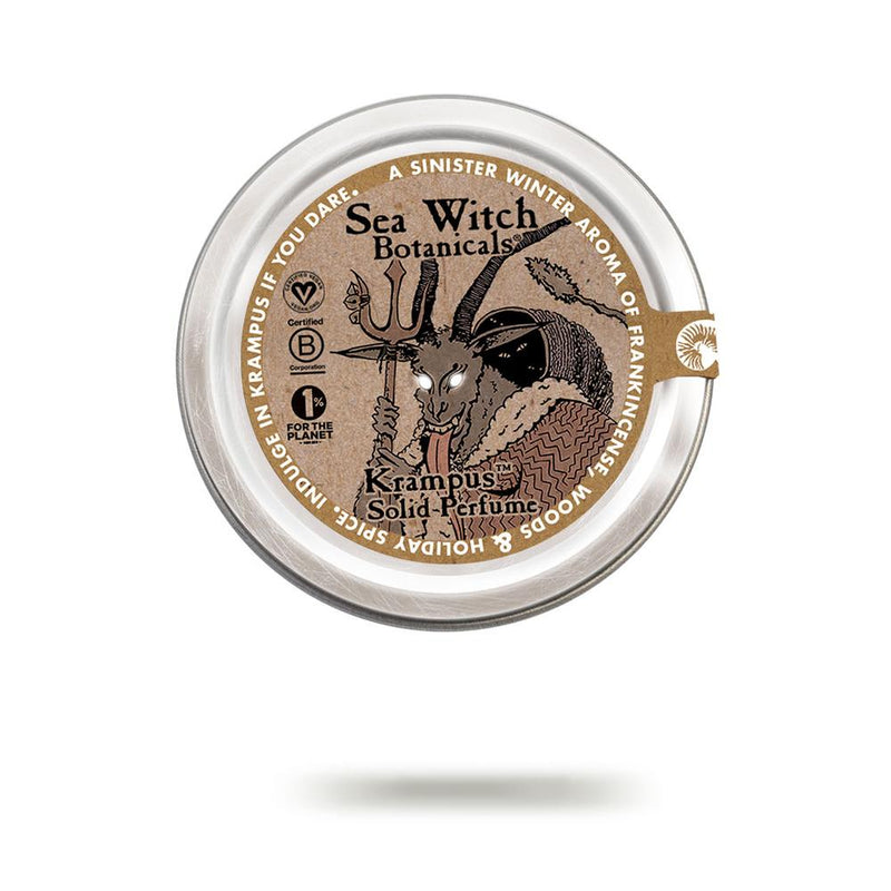 Krampus solid perfume from Sea Witch Botanicals