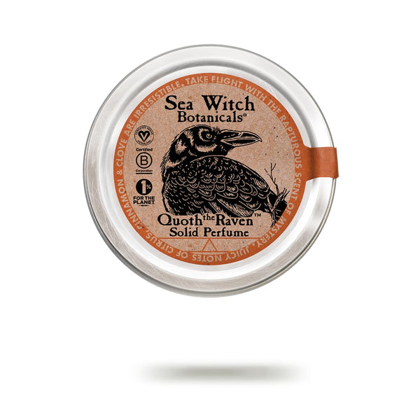Quoth the Raven solid perfume from Sea Witch Botanicals