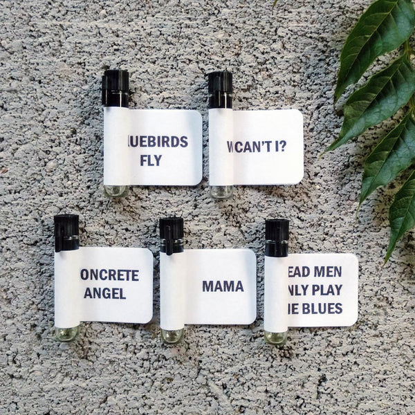Set of five 1ml sample perfumes from The Strange South