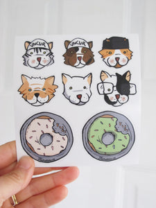 Donut and Cat sticker Pack