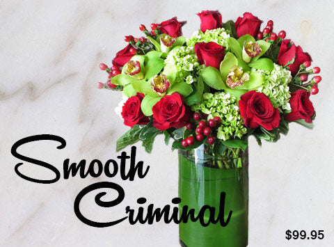 Smooth Criminal Flower Arrangement