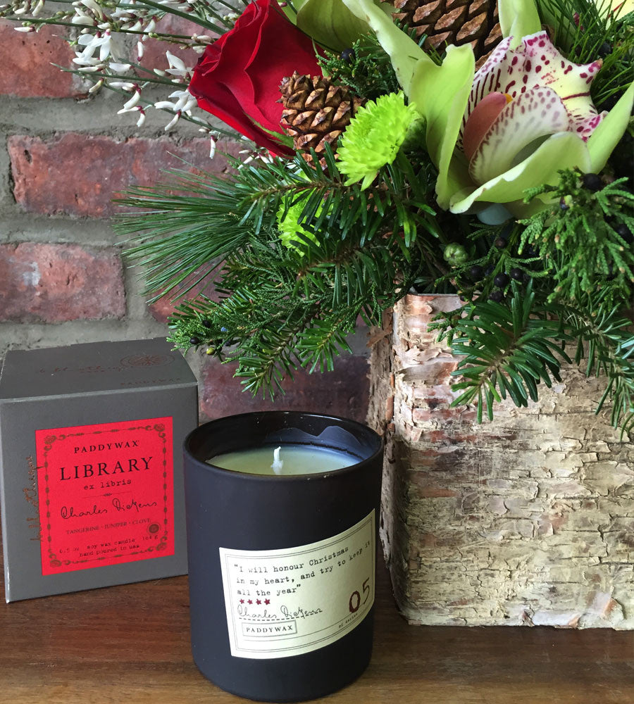 Dickens Birch Cube & Candle